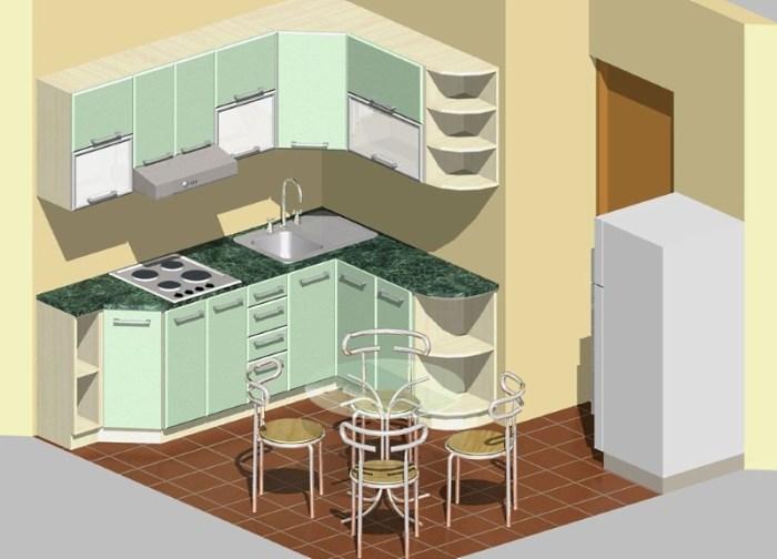 трехмерный проект кухни