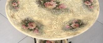 Декор в технике декупаж: легко и эффектно обновляем стол