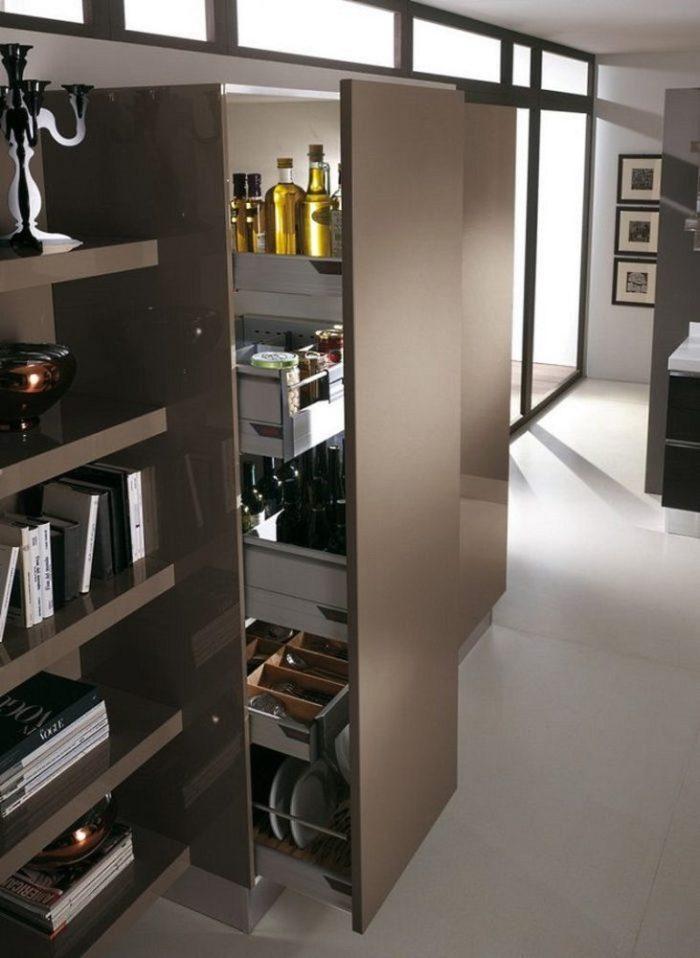 выдвижной шкаф пенал цвета венге