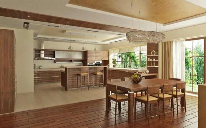 Дизайн проект кухни в частном доме
