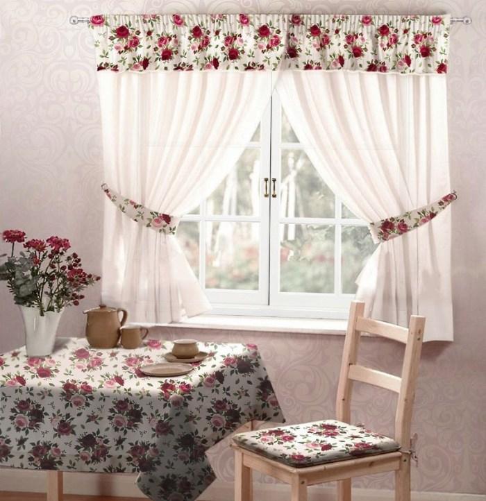 комплект шторы скатерть и подушка на стул