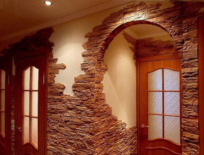 арка отделанная искусственным камнем