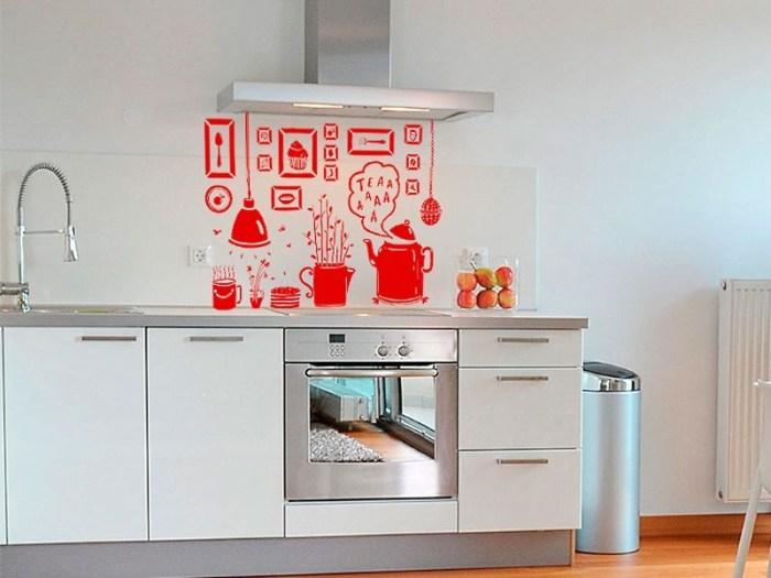 виниловые наклейки на кухонном фартуке