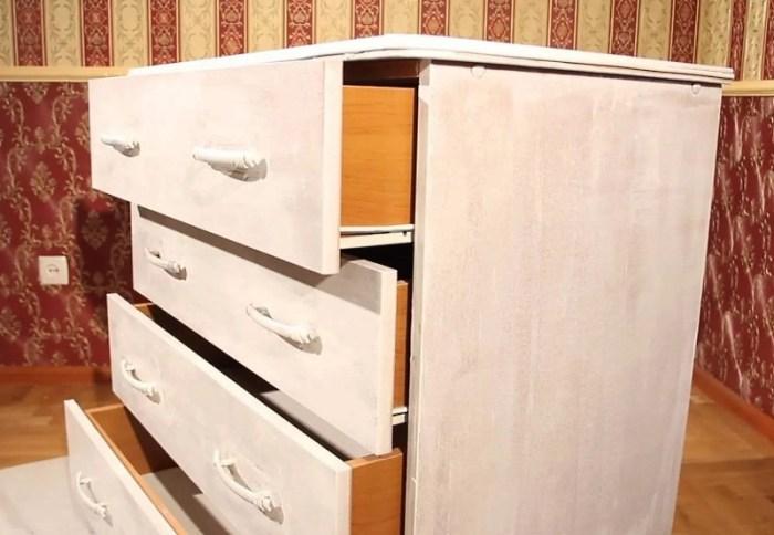 Подготовка мебели к декупажу
