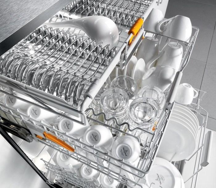 Вместительная посудомойка