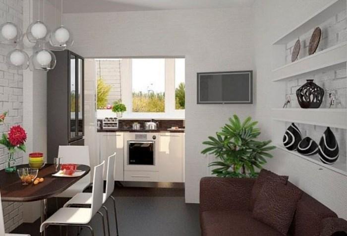 Перенос кухни на балкон