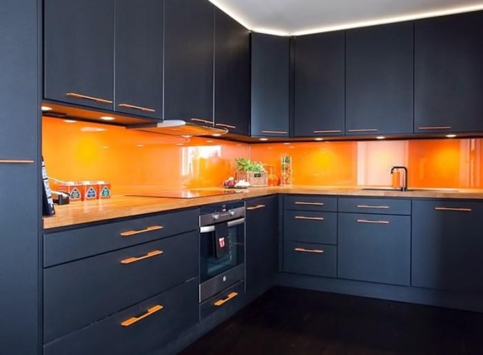 Теплый и холодный цвет кухни