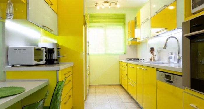 Желто зеленый цвет на кухне