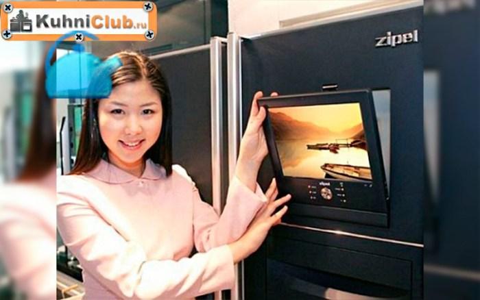 Холодильник-со-встроенным-телевизором