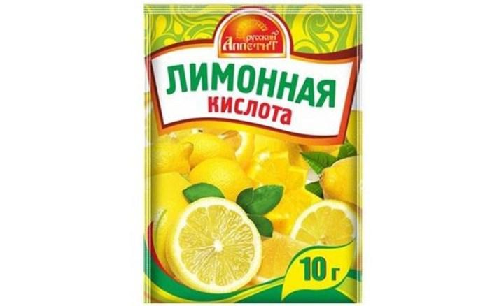 Лимонная кислота при подгорании еды