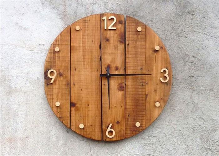 Часы на кухню своими руками из старых досок