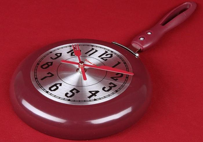 Часы-сковородка на кухню