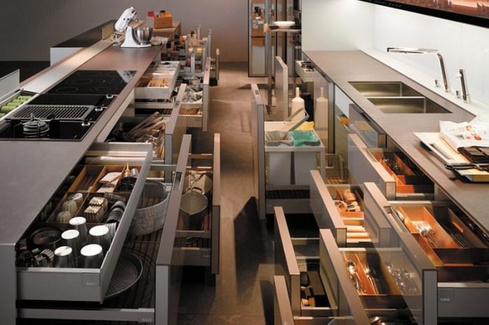 Выдвижные системы на кухне