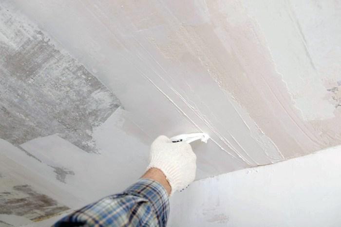 Подготовка потолка для побелки