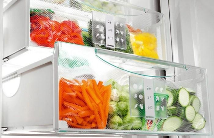 Много продуктов в морозилке