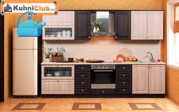 Стены-в-кухне-из-беленого-дуба