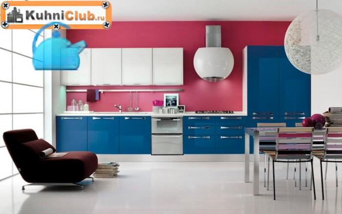 Кухня-в-розово-синем-цвете