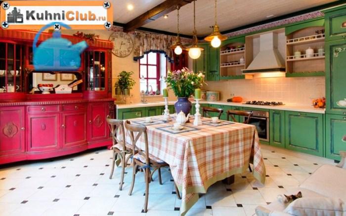 Розовая-кухня-в-стиле-прованс