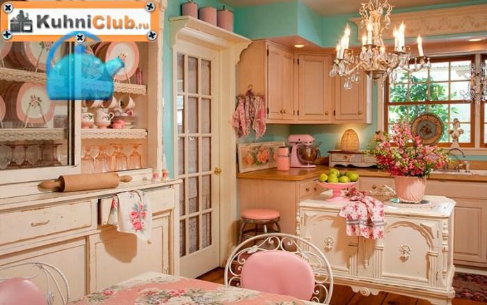 Розовая-кухня-в-стиле-шебби
