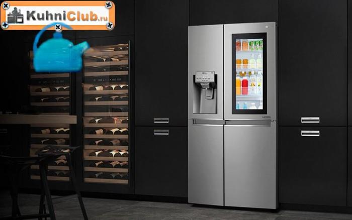 Освещенность-стеклянного-холодильника