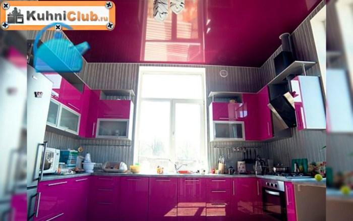 Яркая-розовая-кухня