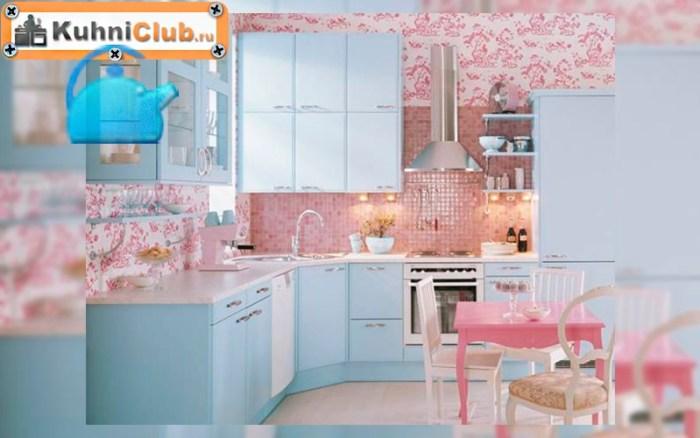 Кухня-в-розово-голубом-цвете