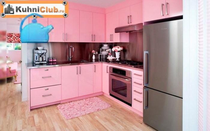 Поиск идеальной розовой кухни