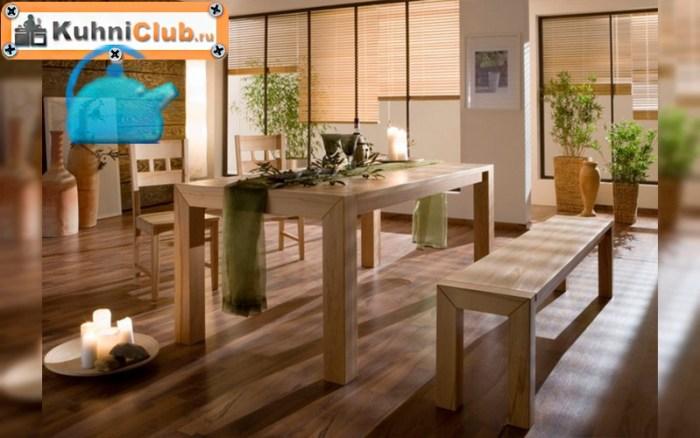 Классическая-скамья-в-кухне