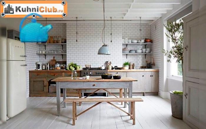 Скамьи-в-кухне-скандинавского-стиля