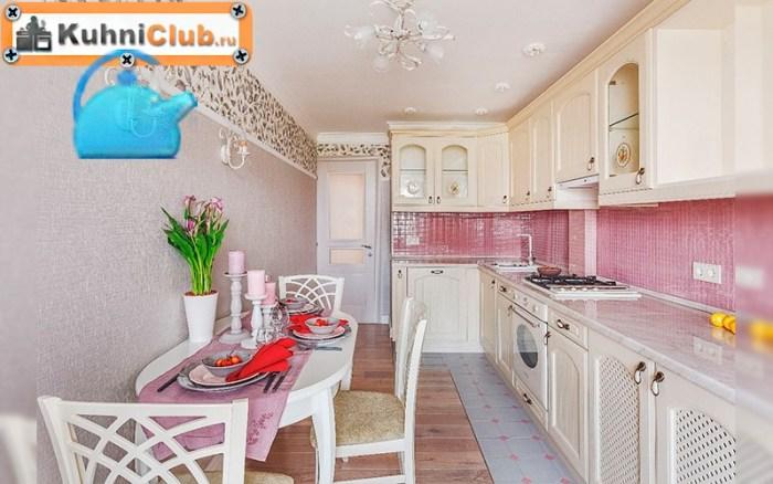 Столешница-из-мрамора-в-кухне-стиля-прованс