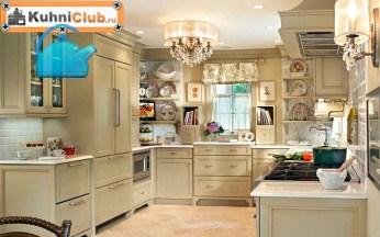 Люстра-бра-точечные-светильники-на-кухне