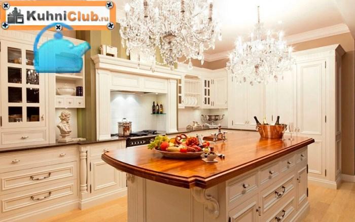 Хрустальные-люстры-на-кухне