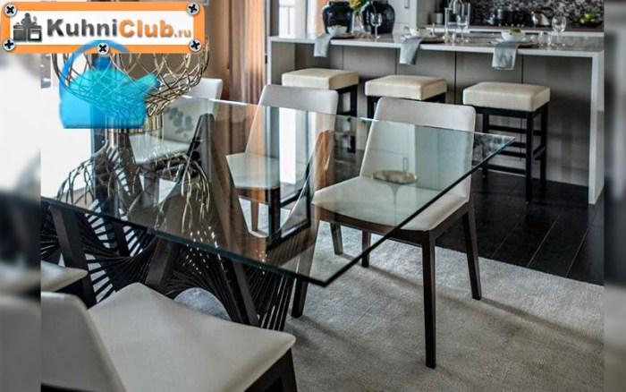 15-Прозрачный-стол-для-темной-кухни