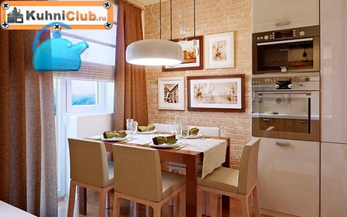 Стена-маленькой-кухни-из-кирпича