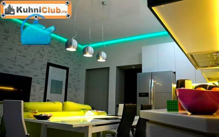 Одноуровневый-потолок-со-светодиодной-подсветкой