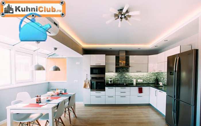 Светодиодная-подсветка-по-периметру-потолка-кухни