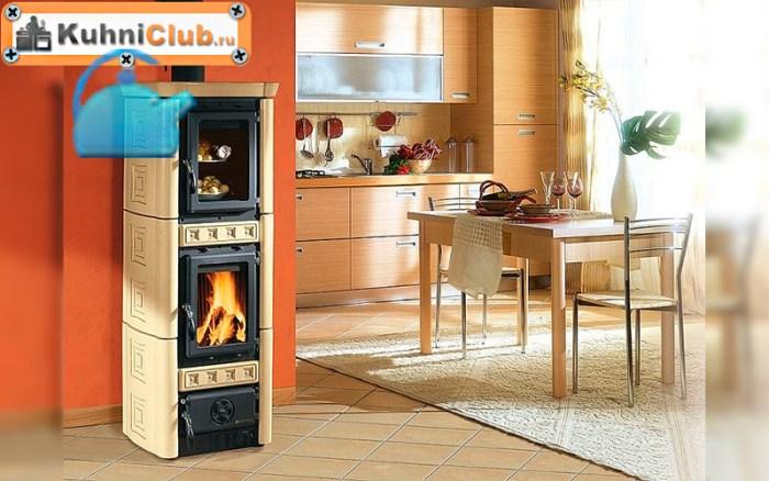 Печь-камин-на-кухне-квартиры