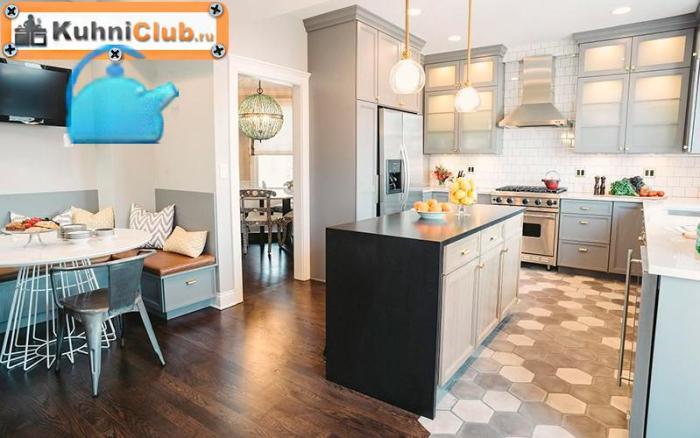 Зонирование-кухни-гостиной