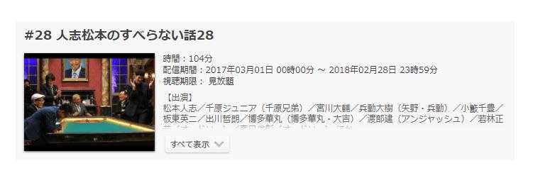 「人志松本のすべらない話28」の動画