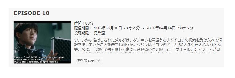 韓国版ドラマ「ライアーゲーム」第10話のあらすじ