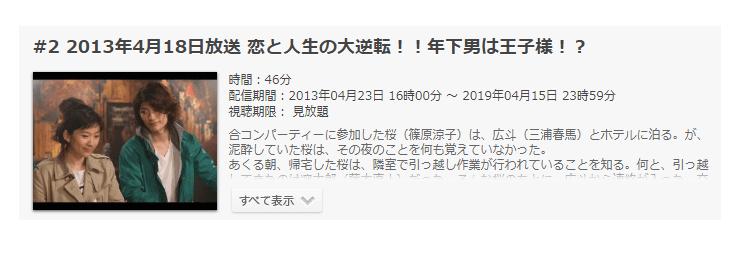 「ラストシンデレラ」第2話の動画「恋と人生の大逆転!!年下男は王子様!?」
