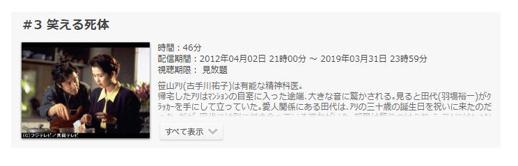 「警部補・古畑任三郎」第3話の動画「笑える死体」