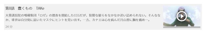 「東京喰種トーキョーグール:re(3期)」8話の動画「蠢くモノ TAKe」