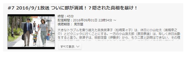 「営業部長 吉良奈津子」第7話の動画のあらすじ