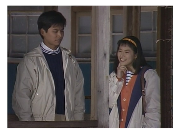 東京ラブストーリーの久万町立久万中学校でのシーン