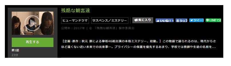 「残酷な観客達」のドラマ動画(1話~10話<最終回>)