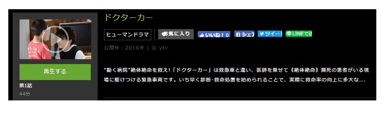 「ドクターカー」のドラマ動画(1話~12話<最終回>)