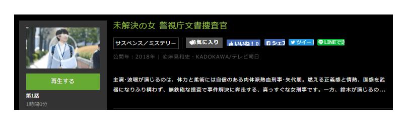 「未解決の女 警視庁文書捜査官」のドラマ動画(1話~8話<最終回>)