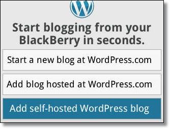 Cara Update Blog Dengan WordPress for BlackBerry