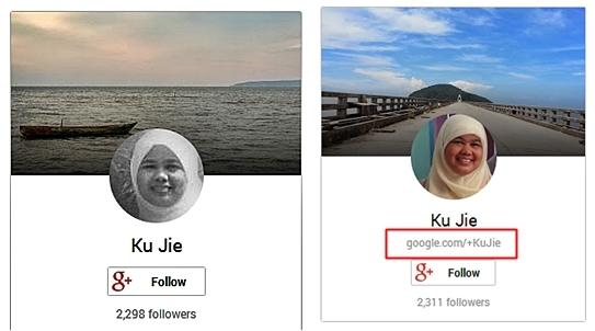 Tukar Custom URL Google+